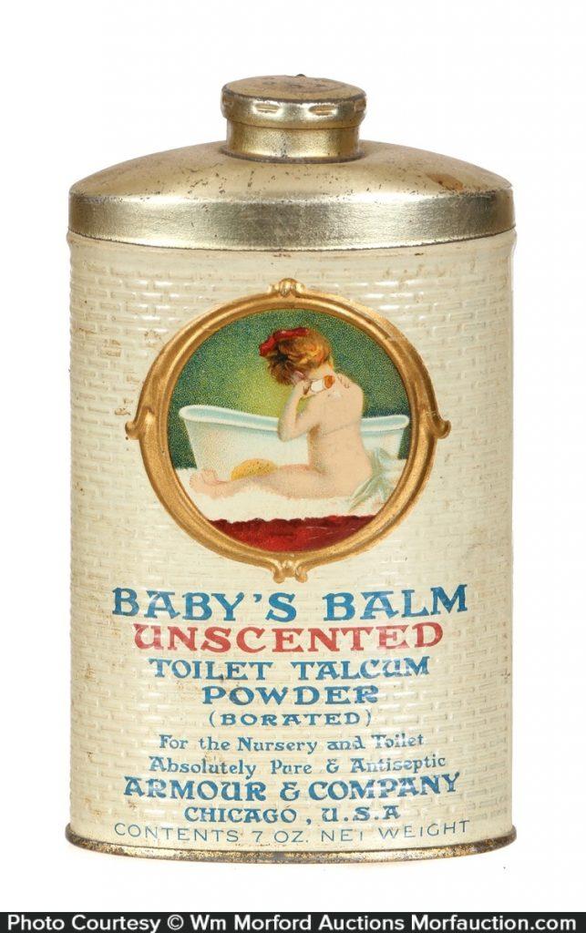 Baby's Balm Toilet Talcum Powder Tin