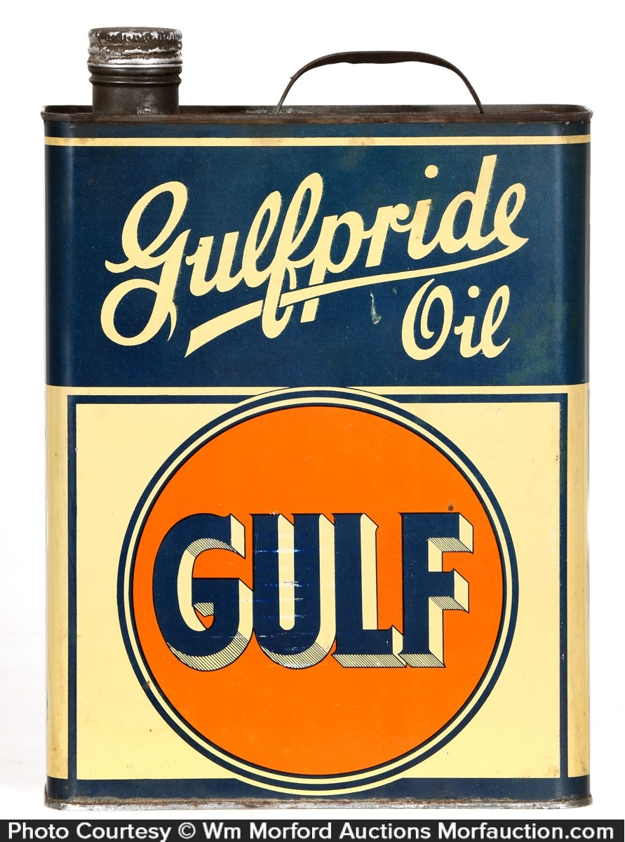Gulfpride Oil Tin
