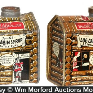 Towle's Log Cabin Syrup Tins