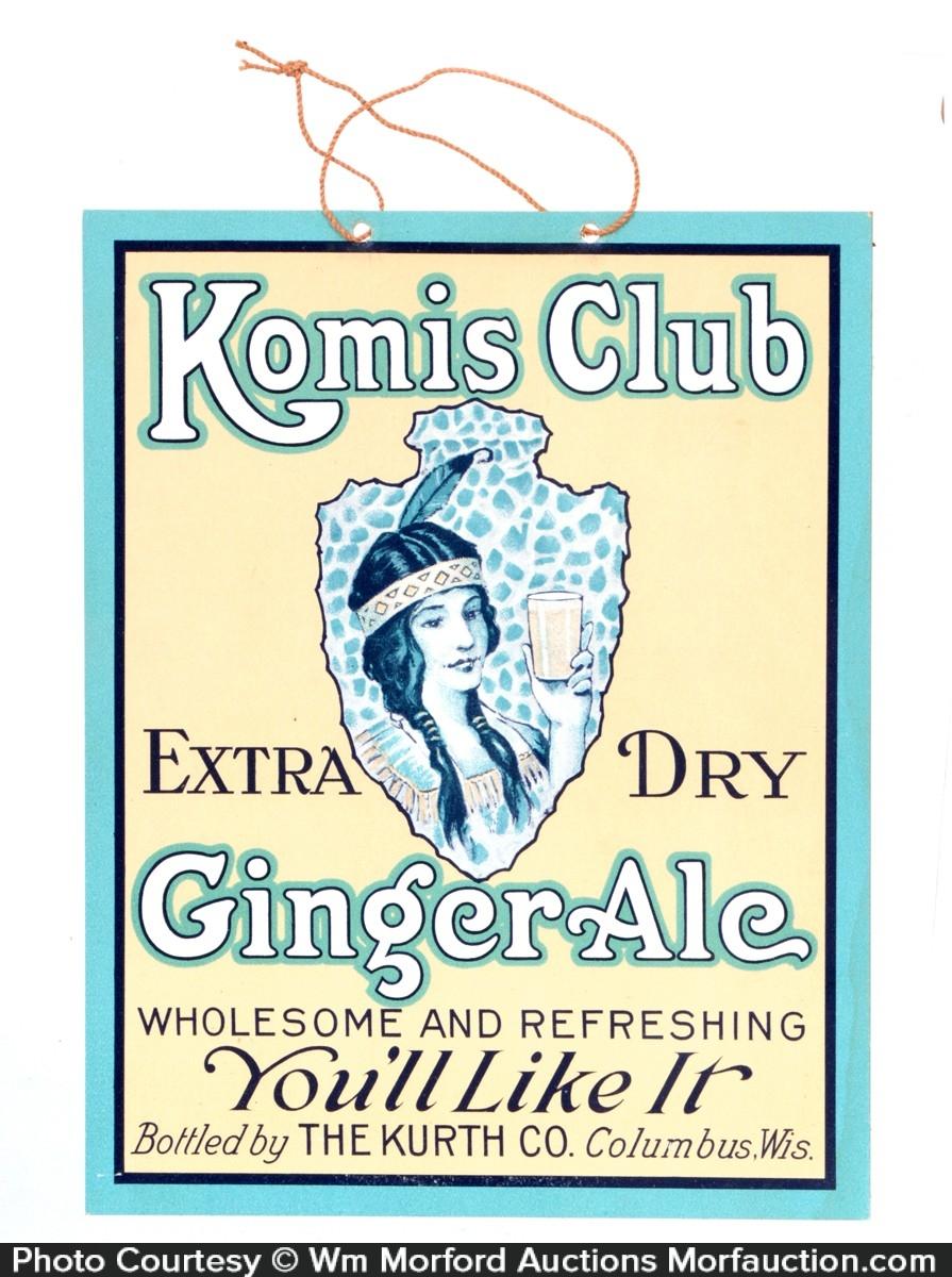 Komis Club Ginger Ale Sign