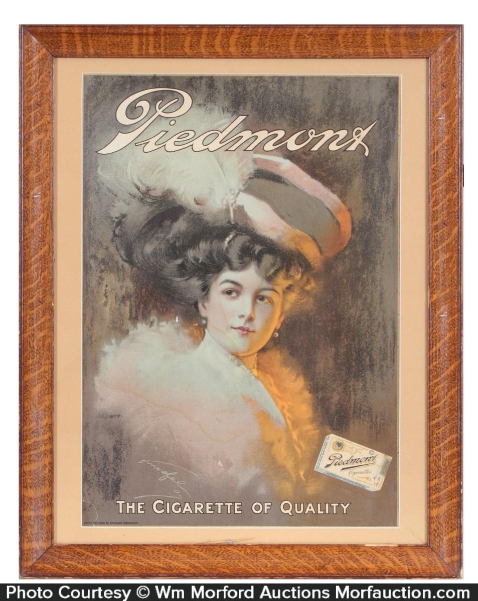 Piedmont Cigarettes Sign