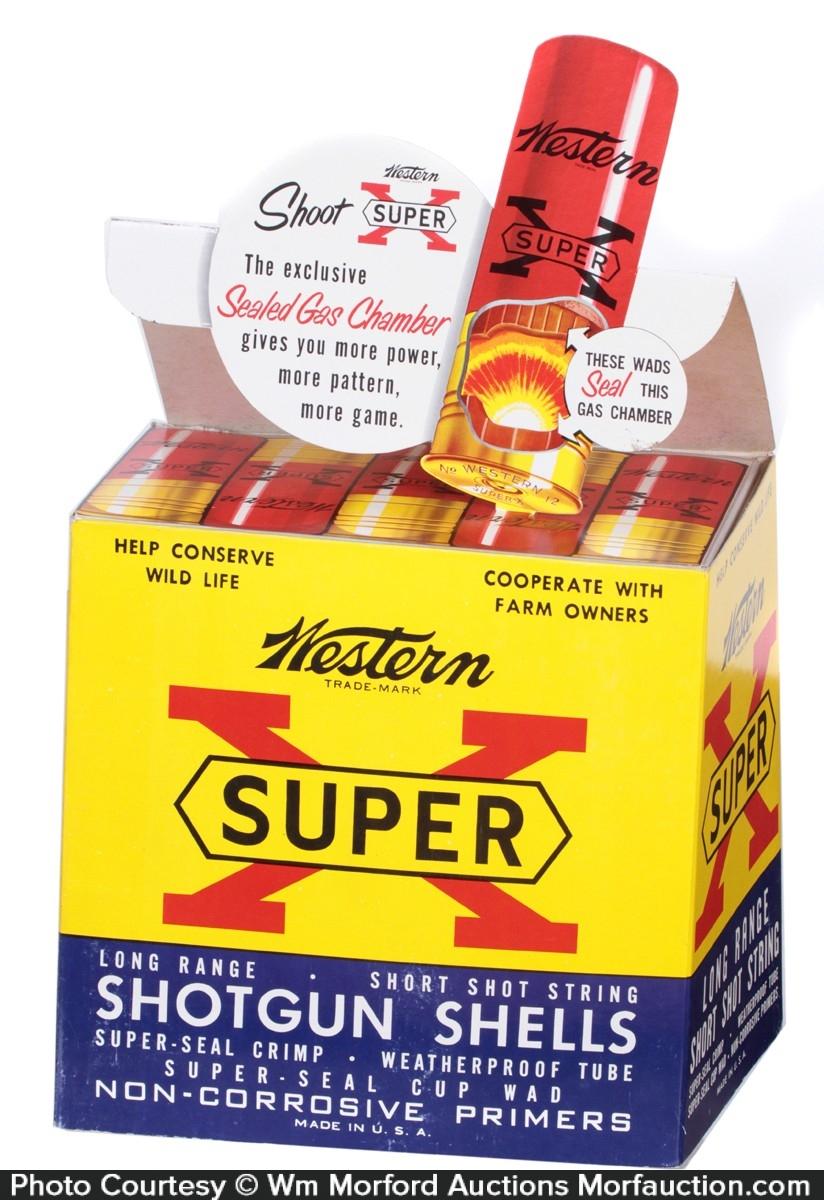 Super X Shotgun Shells Display