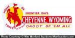Cheyenne Wild West License Plate Topper