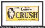 Lemon Crush Deliciously Different Sign