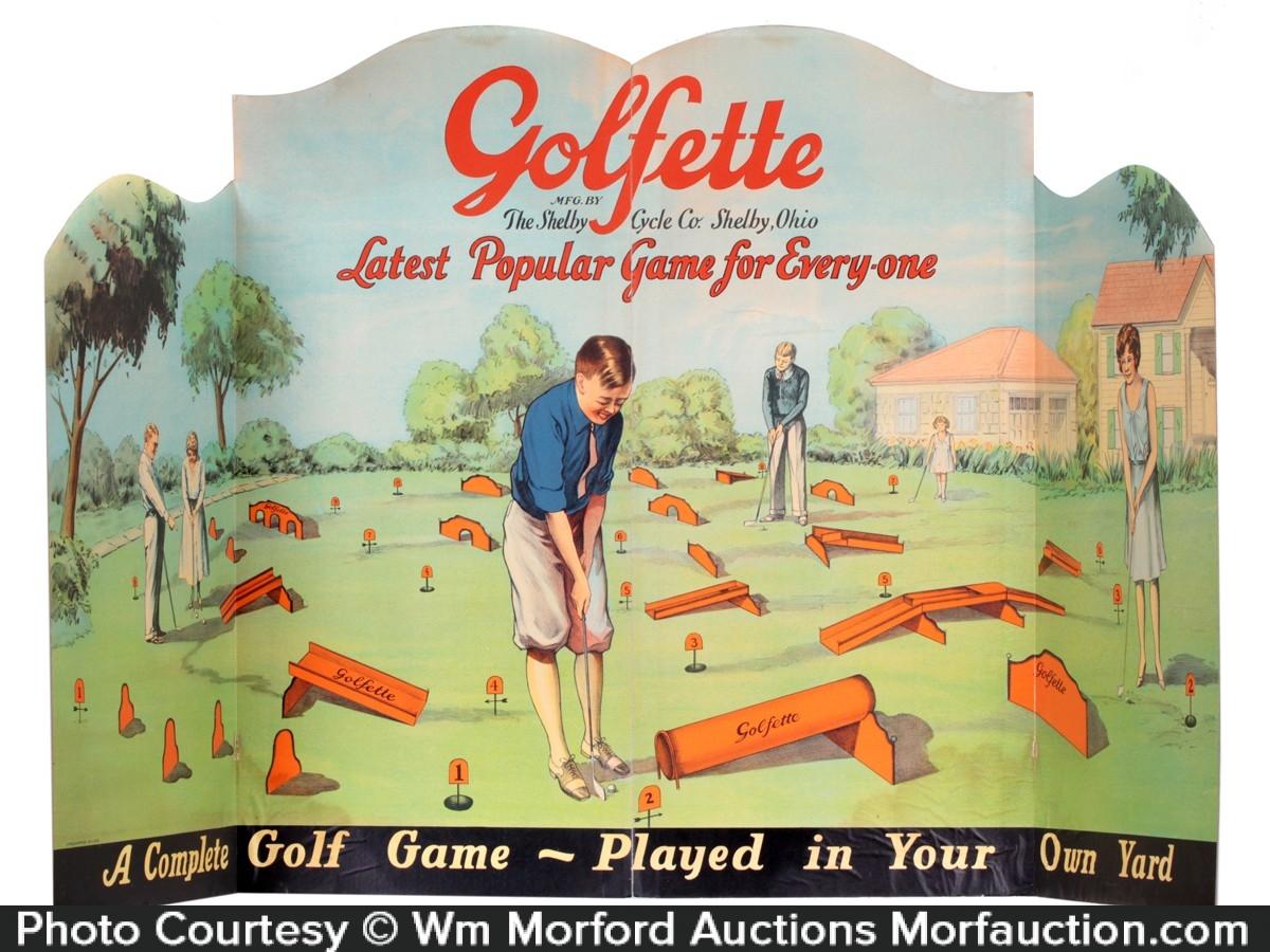 Golfette Golf Game Sign