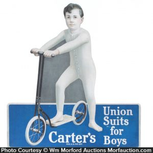 Carter Union Suits Sign