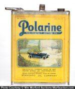 Polarine Motor Oil Can