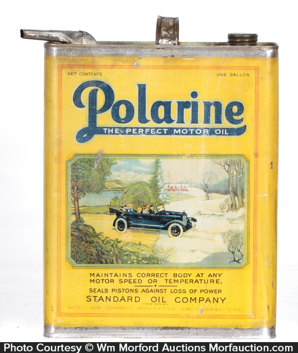 Polarine Motor Oil Can