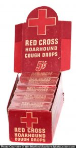 Red Cross Cough Drops Display