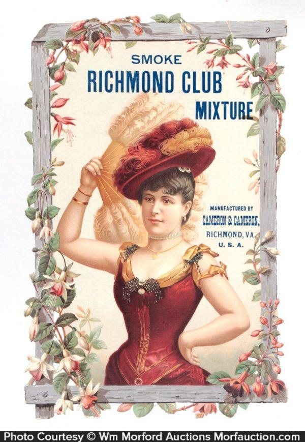 Richmond Club Tobacco Sign