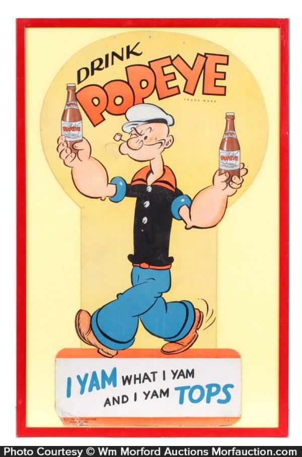 Drink Popeye Soda Sign