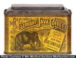 Elephant Java Coffee Tin