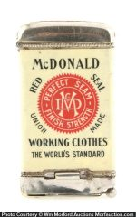 Mcdonald Red Seal Overalls Match Safe
