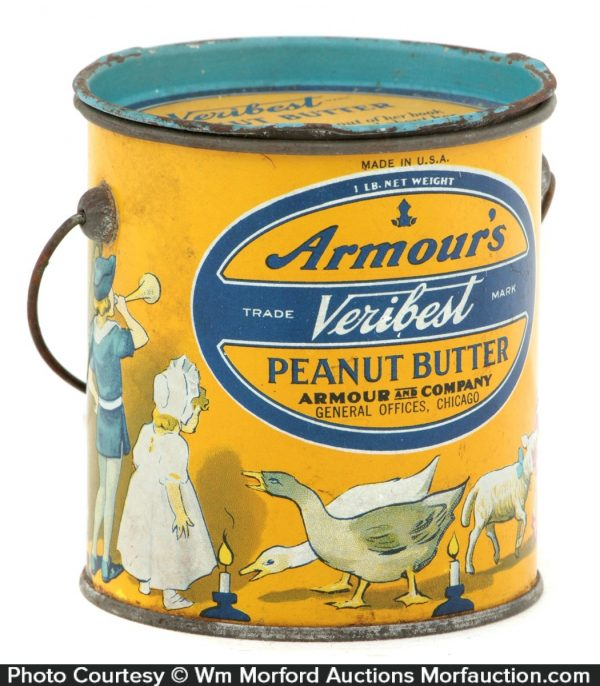 Armours Veribest Peanut Butter Pail