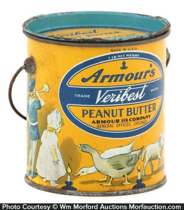 Armours Veribest Peanut Butter Pail