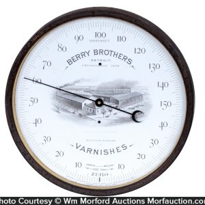 Berry Brothers Varnishes Thermometer