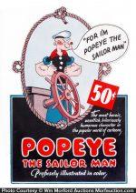 Vintage Popeye Sign