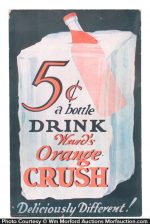 Ward's Orange Crush Sign