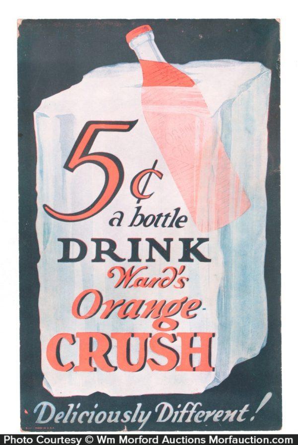 Ward's Orange Crush Sign