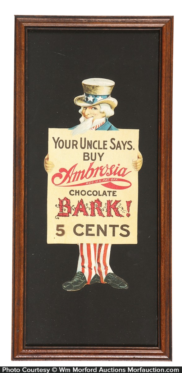 Ambrosia Chocolate Bark Uncle Sam Sign