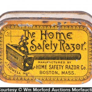 Home Safety Razor Tin