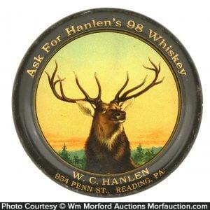 Hanlen's Whiskey Tip Tray