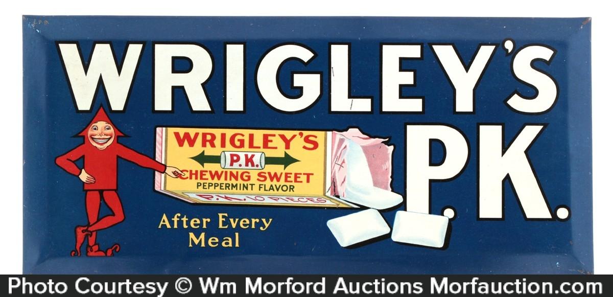 Wrigley's P.K. Gum Sign