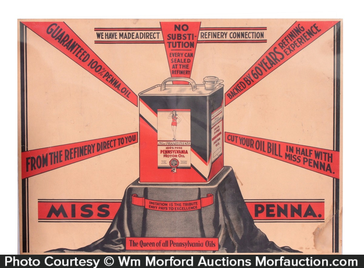 Miss Pennsylvania Oil Sign