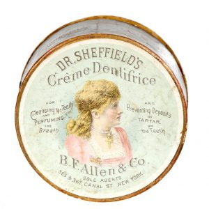 Dr. Sheffield's Creme Dentrifice Tin