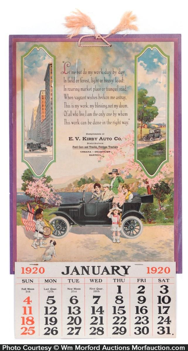 Kirby Ford Dealers Calendar