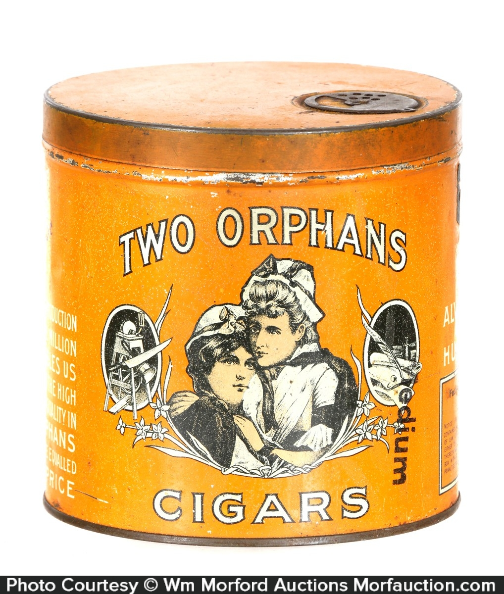 Two Orphans Cigars Can