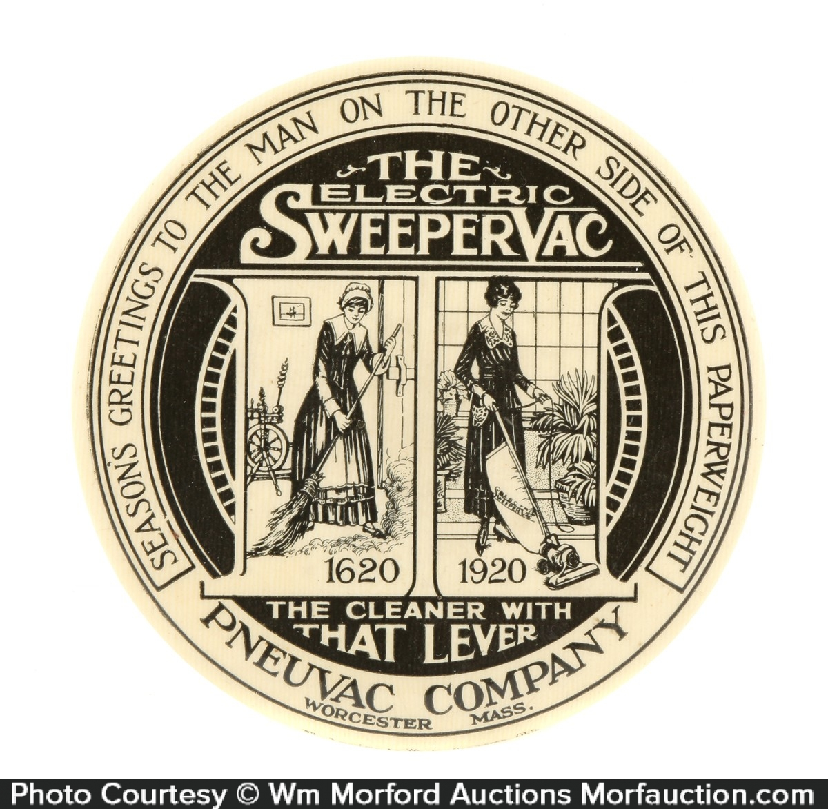 Sweepervac Paperweight Mirror