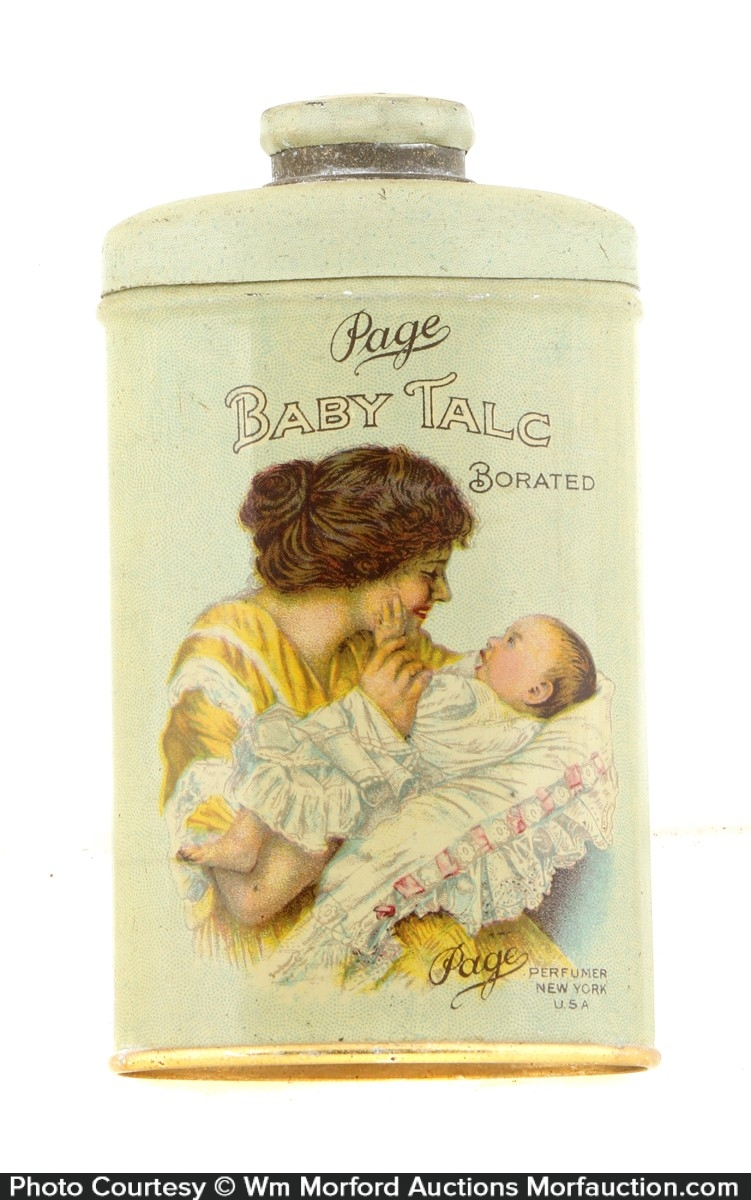 Page's Baby Talc Tin