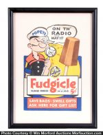 Popeye Fudgicle Sign