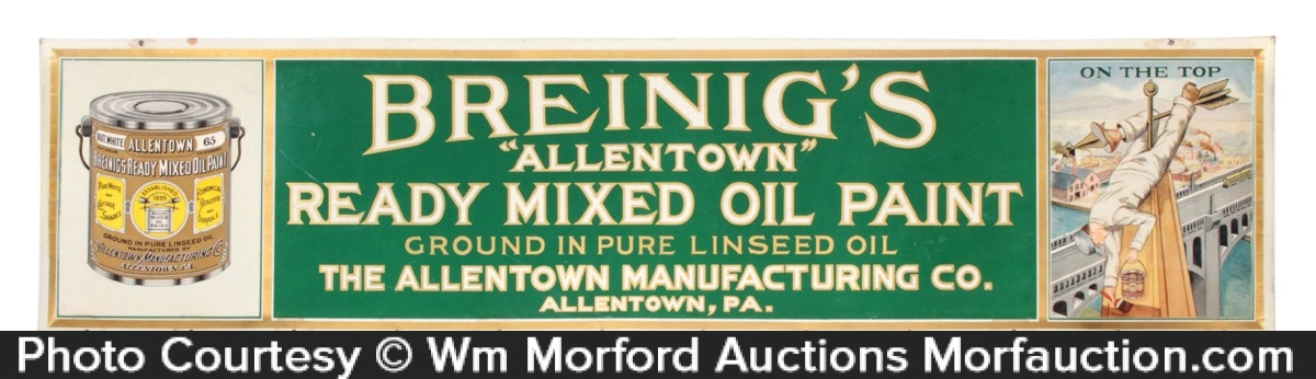 Breinig's Allentown Paint Sign