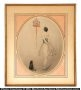 Louis Icart Red Cage Etching