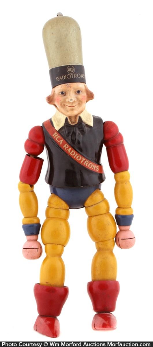 Rca Radiotron Wooden Doll