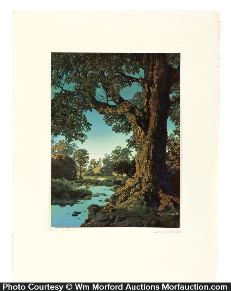 Maxfield Parris Village Brook Art Print