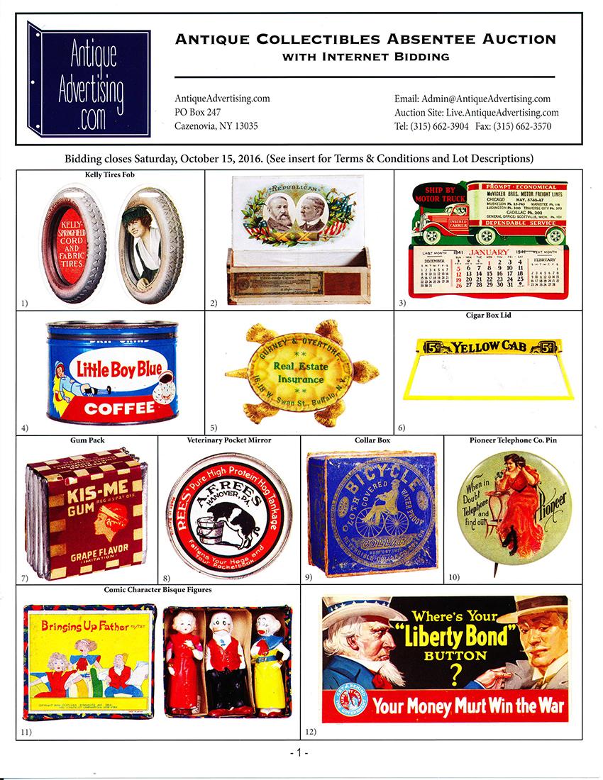 Antique Advertising   Past Auctions • Antique Advertising