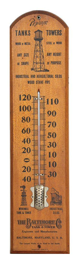 Baltimore Tank & Tower Thermometer