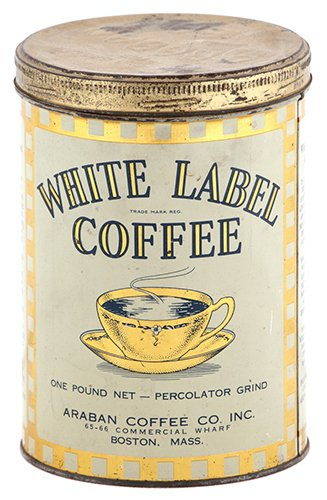 White Label Coffee Can