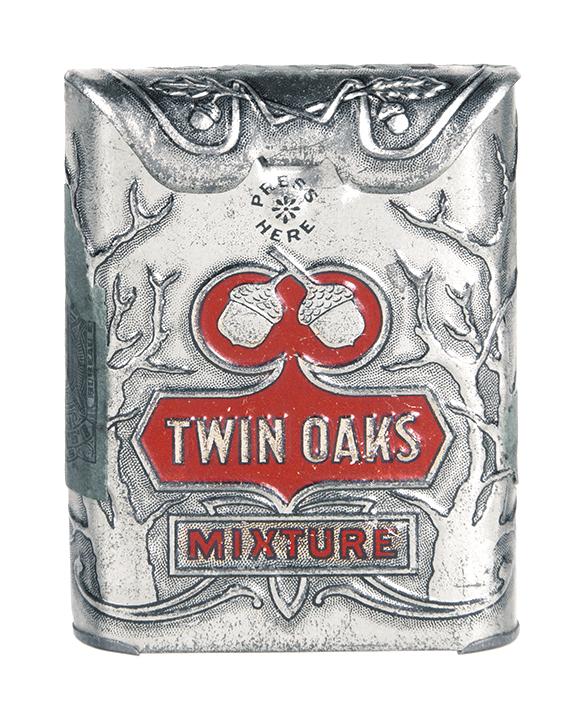 Twin Oaks Sample Tobacco Tin