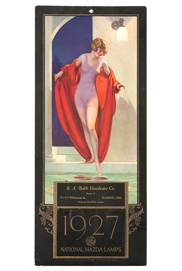 1927 National Mazda Lamps Calendar