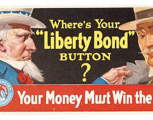 Liberty Bond Button Sign
