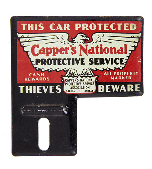 Capper's National License Plate Topper