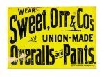 Sweet Orr Overalls Sign