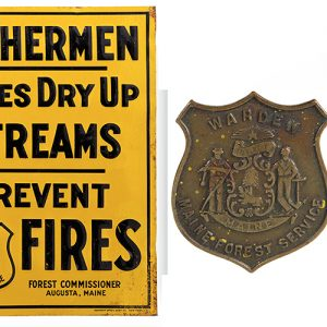 Fisherman Fire Prevention Sign