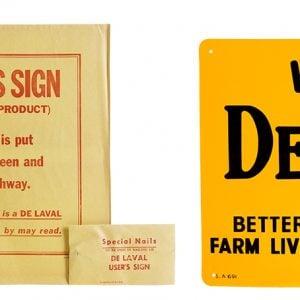 De Laval Dairy Farm Sign