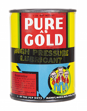 Pure As Gold Pep Boys Grease Can