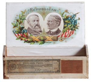 1888 Political Republican Cigar Box